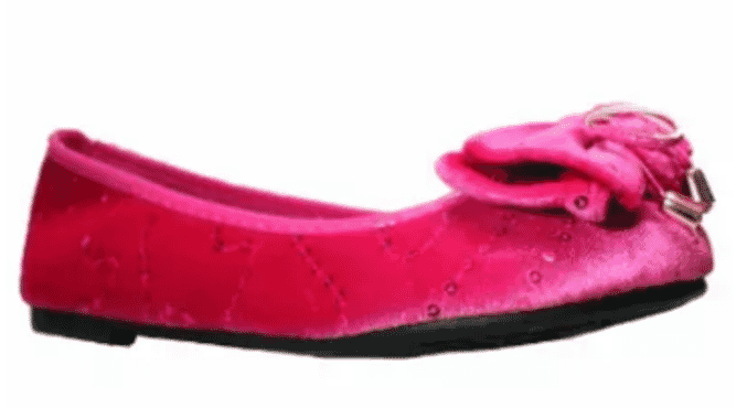 Bear inc Girls Sequin Slip On Shoe-Pink